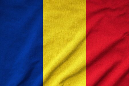 Ruffled Romania Flag photo