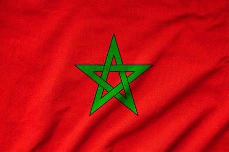 Ruffled Morocco Flag Stock Photo - 23150158