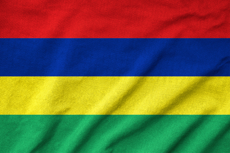 Ruffled Mauritius Flag photo