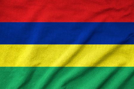 Ruffled Mauritius Flag Stock Photo - 23150156