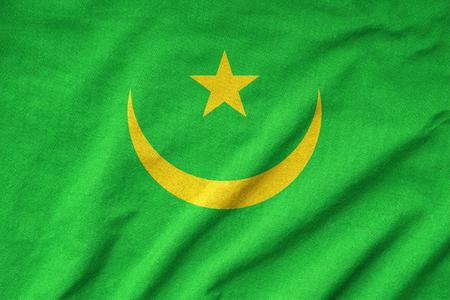 Ruffled Mauritania Flag photo