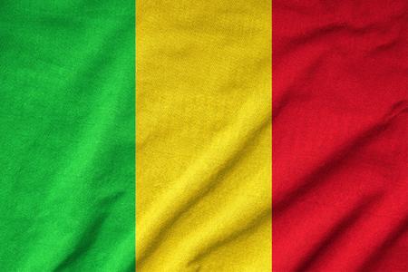 Ruffled Mali Flag photo