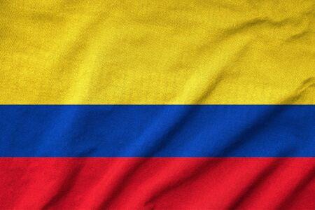 rumple: Ruffled Colombia Flag Stock Photo