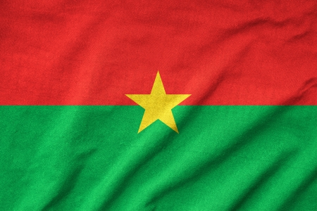 Ruffled Burkina Faso Flag photo