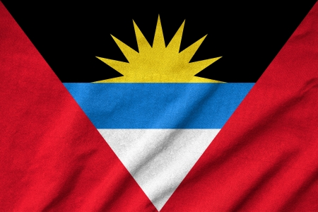 Ruffled Antigua and Barbuda Flag photo
