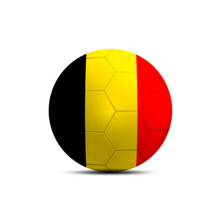 Belgium flag ball isolated on white background photo