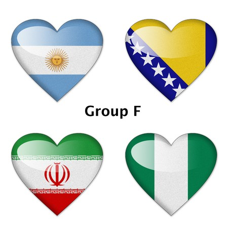 Group F final   Argentina, Bosnia-Herzegovina, Iran, and Nigeria photo