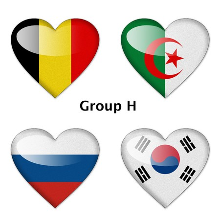 Group H final   Belgium, Algeria, Russia, and South Korea photo