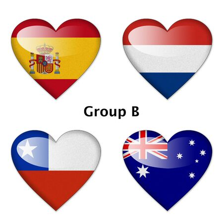 Group B final   Spain, Netherlands, Chile, and Australia photo