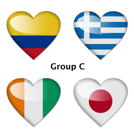 Group C final   Colombia, Greece, Ivory Coast, and Japan photo