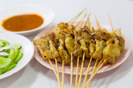 satay sauce: Grill pork satay with sauce