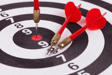 bulls eye target with dart photo
