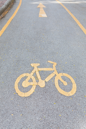 foot path: Bicycle Lane Stock Photo