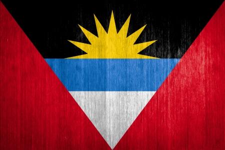 antigua flag: Antigua and Barbuda Flag on wood background
