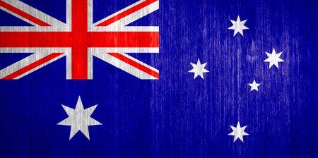 Australia Flag on wood background photo
