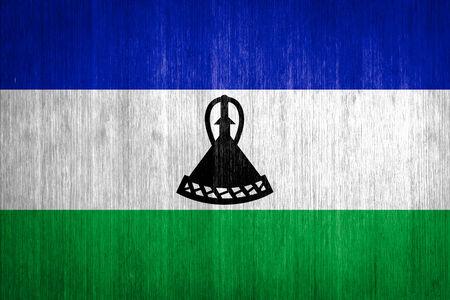 lesotho: Lesotho Flag on wood background