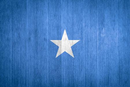somalia: Somalia Flag on wood background