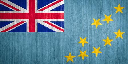 tuvalu: Tuvalu Flag on wood background Stock Photo