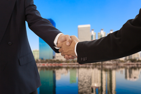 Businessman handshake photo