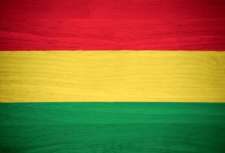 bandera de bolivia: Bolivia bandera en la textura de madera