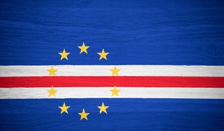 cape verde: Cape Verde flag on wood texture Stock Photo