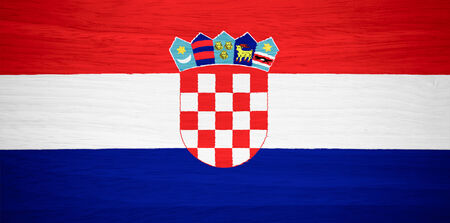 bandiera croazia: Croazia bandiera su struttura di legno
