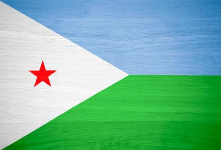 djibouti: Djibouti flag on wood texture Stock Photo