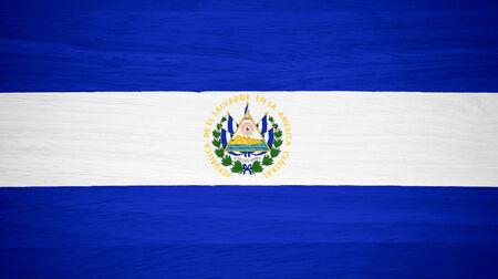 bandera de el salvador: Bandera de El Salvador en la textura de la madera