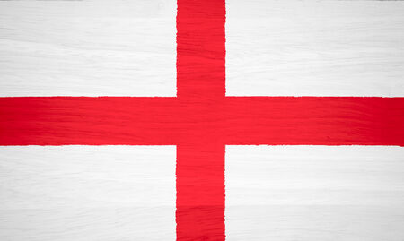 bandera inglaterra: Bandera de Inglaterra en la textura de madera Foto de archivo
