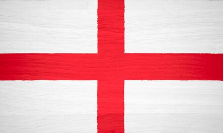 england flag: England flag on wood texture