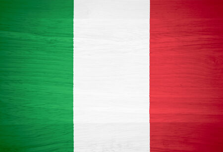 flag italy: Italy flag on wood texture