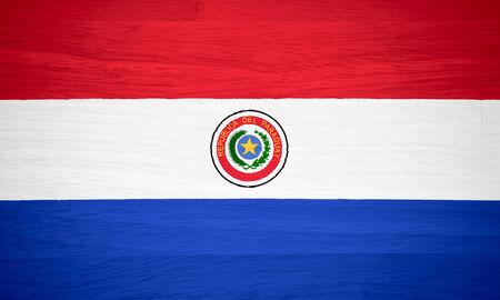 Paraguay flag: Bandera de Paraguay en la textura de la madera
