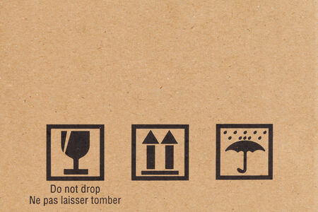 Safety icon on paper box background photo