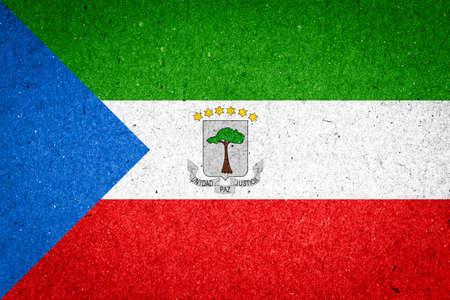 equatorial guinea: Equatorial Guinea flag on paper background