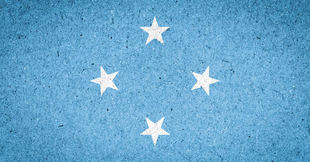 micronesia: Micronesia flag on paper background