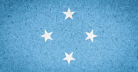 micronesia: Micronesia flag on paper background