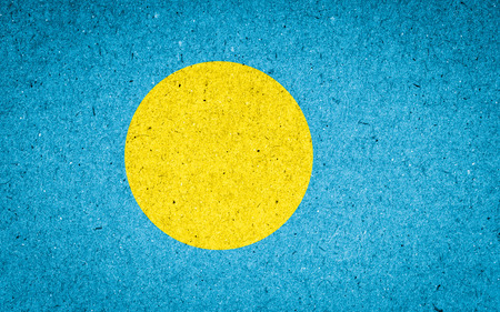 palau: Palau flag on paper background