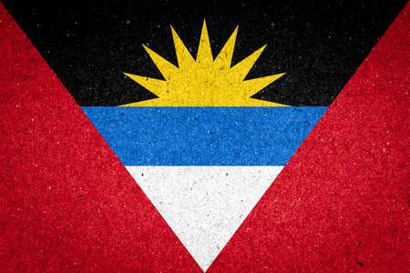 antigua flag: Antigua and Barbuda flag on paper background Stock Photo