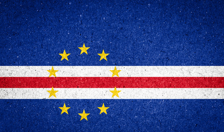 cape verde: Cape Verde flag on paper background