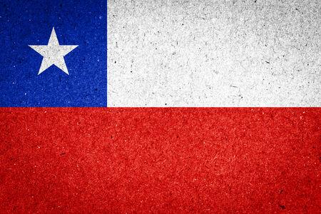 bandera chile: Bandera de Chile en el fondo de papel