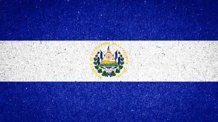el salvador flag: El Salvador flag on paper background