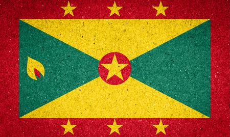 grenada: Grenada flag on paper background