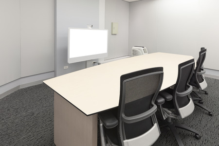 Empty video conference room photo