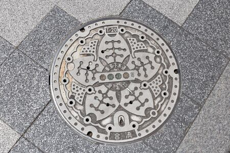 manhole cover: Manhole cover in Japan