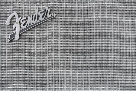 fender: Fender logo on speaker