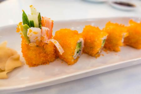 California maki sushi japanese food closeup