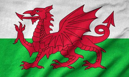Ruffled Wales Flag