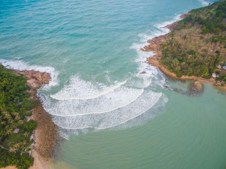 Aerial view of Ko Ma island near Koh Phangan Thailand