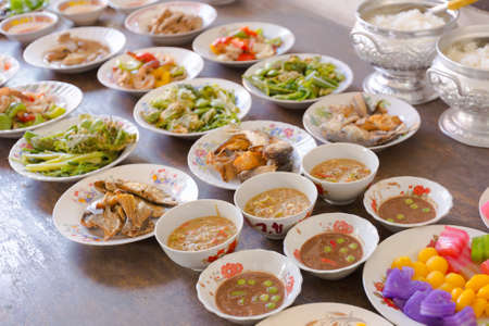Set of traditional Thai food