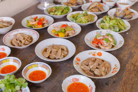 Set of traditional Thai food